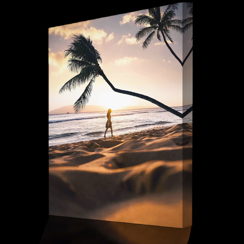 Prints für Büro & Home-Office SUNSET WALK von DotComCanvas