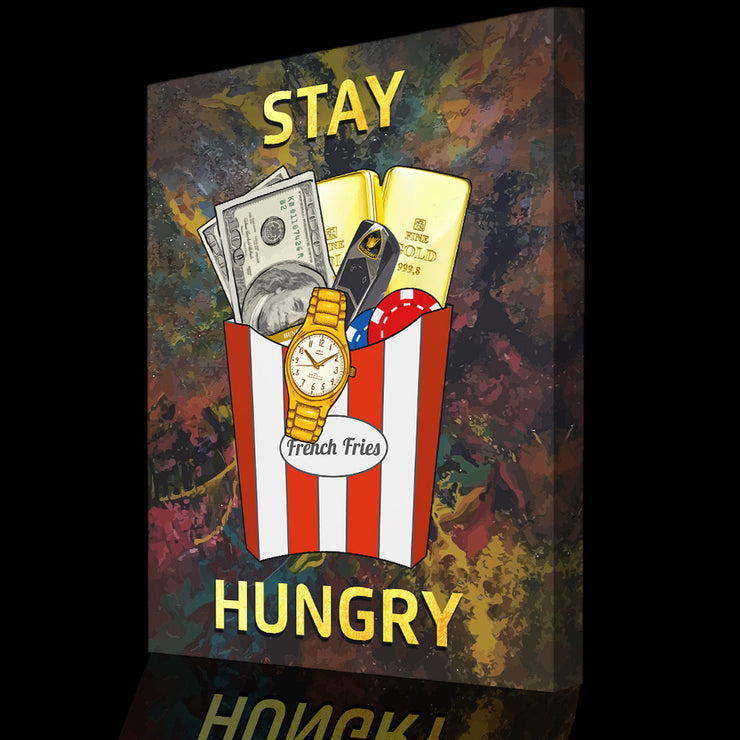 Wandbild für Büro & Home-Office STAY HUNGRY #2 von DotComCanvas
