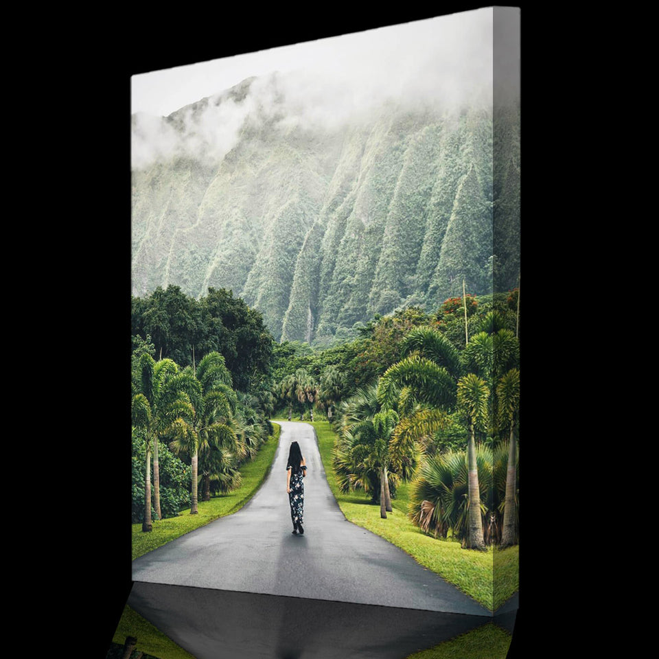 Prints für Büro & Home-Office TROPICAL WALK von DotComCanvas