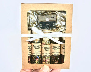 Herbal Tea Sampler Gift Set, 5 Mini Bottles