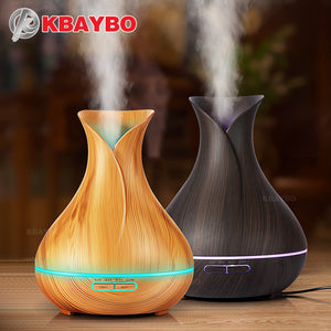 KBAYBO Wood Ultrasonic Air Humidifier Essential Oil Diffuser