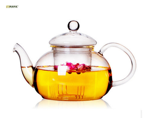 Glass Teapot with Infuser by LONGMING HOME