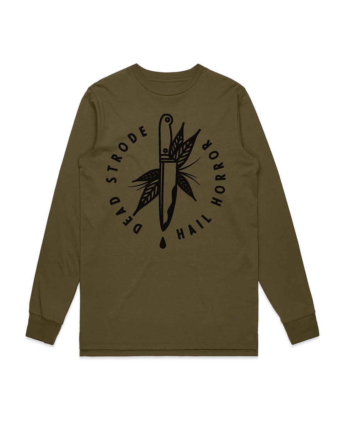 Knife L/S Tee Army Green