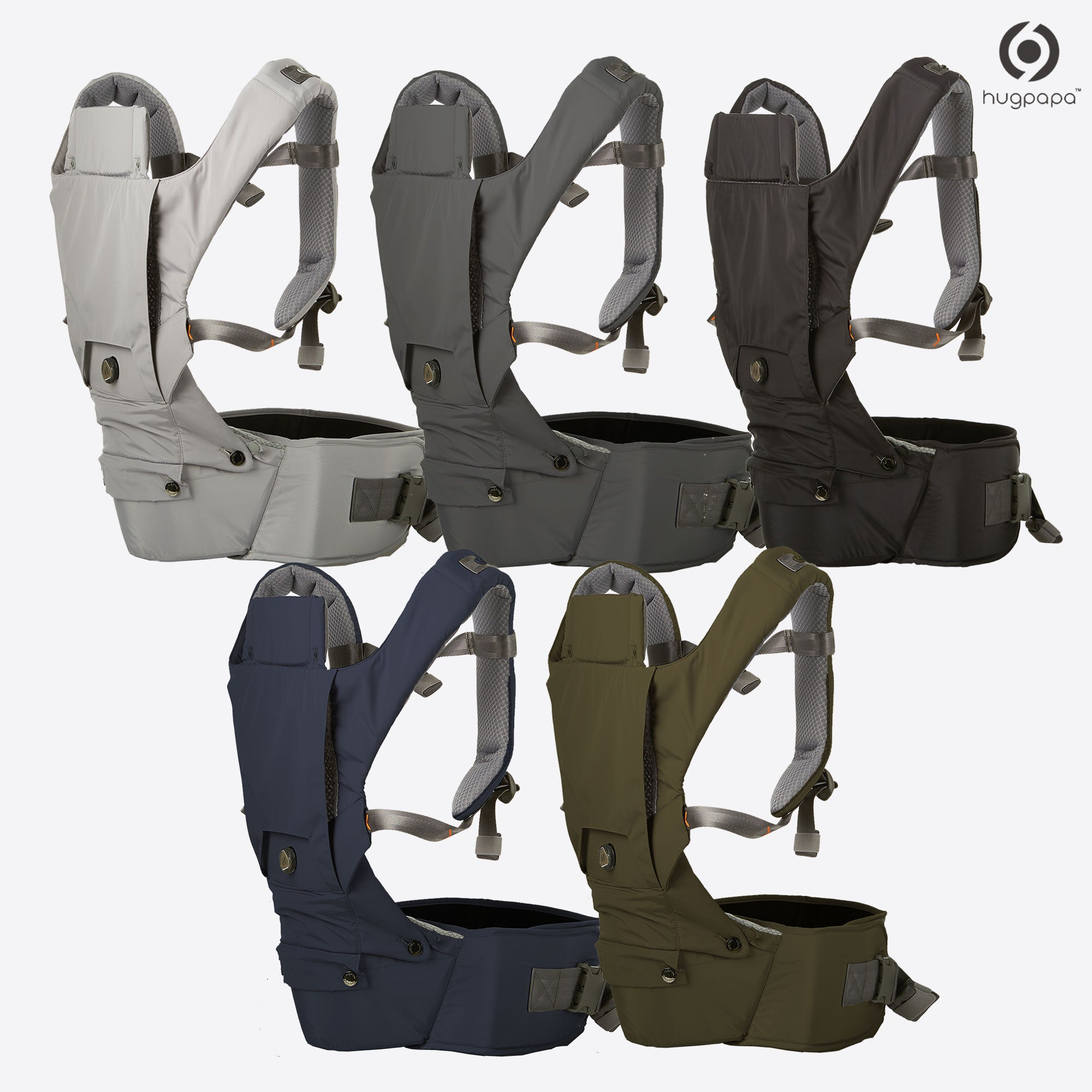 2019 New Edition Hugpapa Dial Fit 3 In 1 Hip Seat Baby Carrier 5