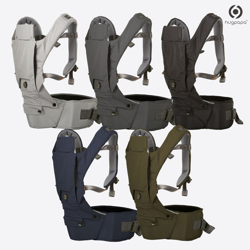 2019 New Edition Hugpapa Dial-Fit 3-In-1 Hip Seat Baby Carrier (5 colors)