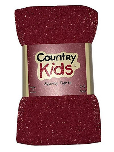L C Boutique Girls Sparkly Footed Tights in sizes to fit  1 to 14 Years