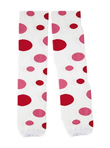 L C Boutique Girls Cotton Polka Dot Tights Capri Length in sizes to fit girls from ages 1 to 8 years