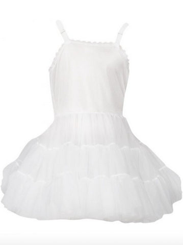 L C Boutique Girls Full Slip Adjusts Bouffant Petticoat Crinoline 2T-14 Ruffles Layers