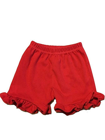 L C Boutique Little Girls Relaxed Fit 100% Cotton Ruffle Shorts