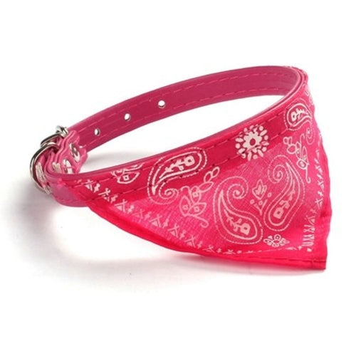Awesome Bandana Leather Dog/Pet Collar.