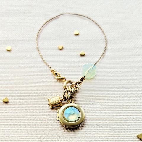 """TURTLES & TREASURES"" LOCKET BRACELET"
