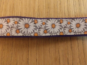 Large (6ft) White Daisies on Purple Leash
