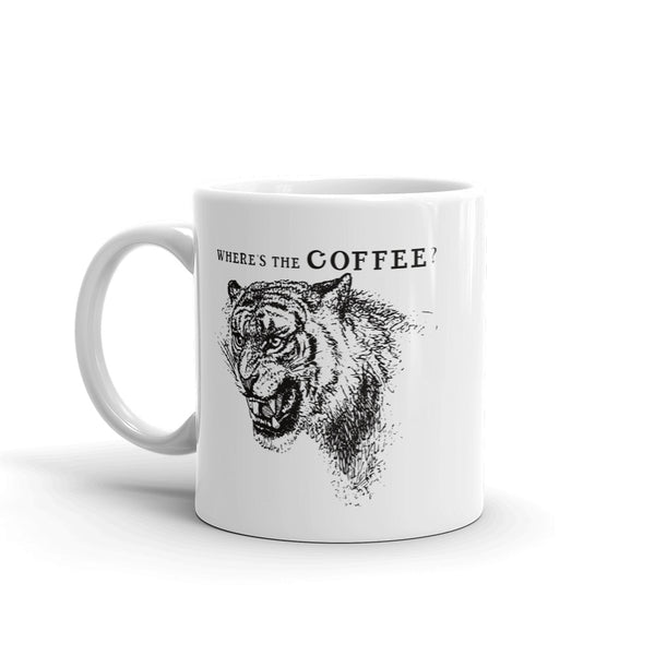 Where's the Coffee Tiger Mug