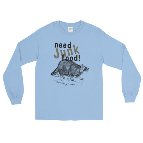 Need Junk Food Raccoon long sleeve tee