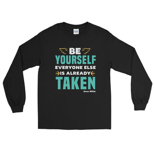 Be Yourself (Oscar Wilde) long sleeve tee