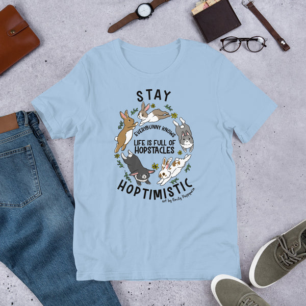 Stay Hoptimistic Bunny/Rabbit t-shirt