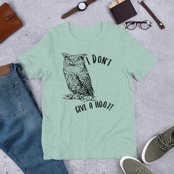 I Don't Give a Hoot! Owl t-shirt