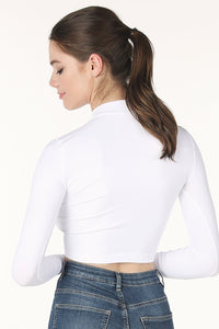 Seamless Mock Crop - White