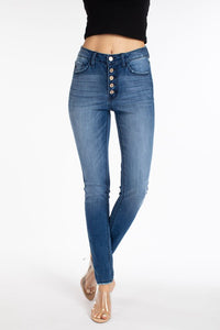 High Rise Button Fly Super Skinny Jean