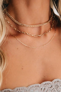 On The Go Gold Layered Necklace