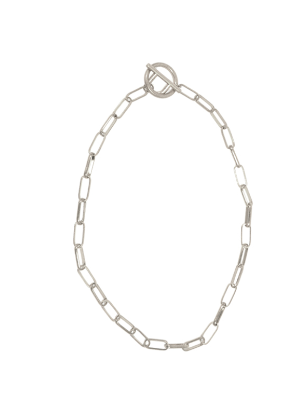 Chain Toggle Necklace - Silver