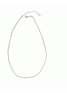Texture Chain Necklace - Silver