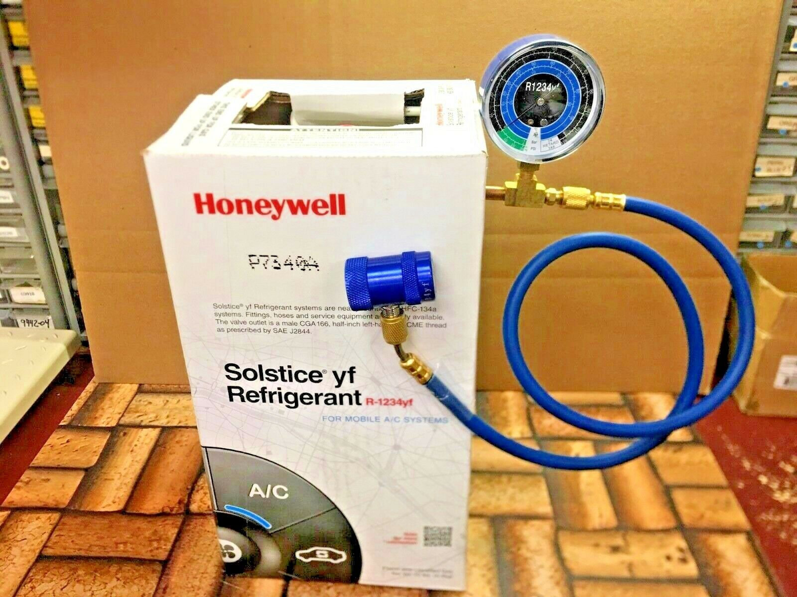 R1234YF Refrigerant Honeywell 10 Lb Solstice Check /& Charge-It Kit S Sealed