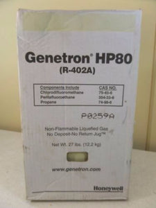 R402a, HP80, Refrigerant, R-402A, HCFC, R502, R-502 Replace Thermo King  Freon 27 Lbs