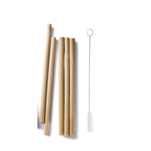 Reusable Bamboo smoothie straw starter Kit