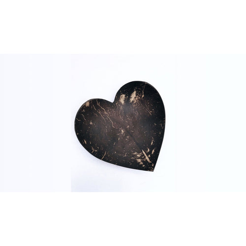 Heart shape curved plate - set of 4