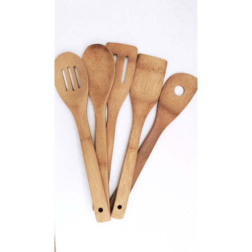 Bamboo cooking utensils set of 4