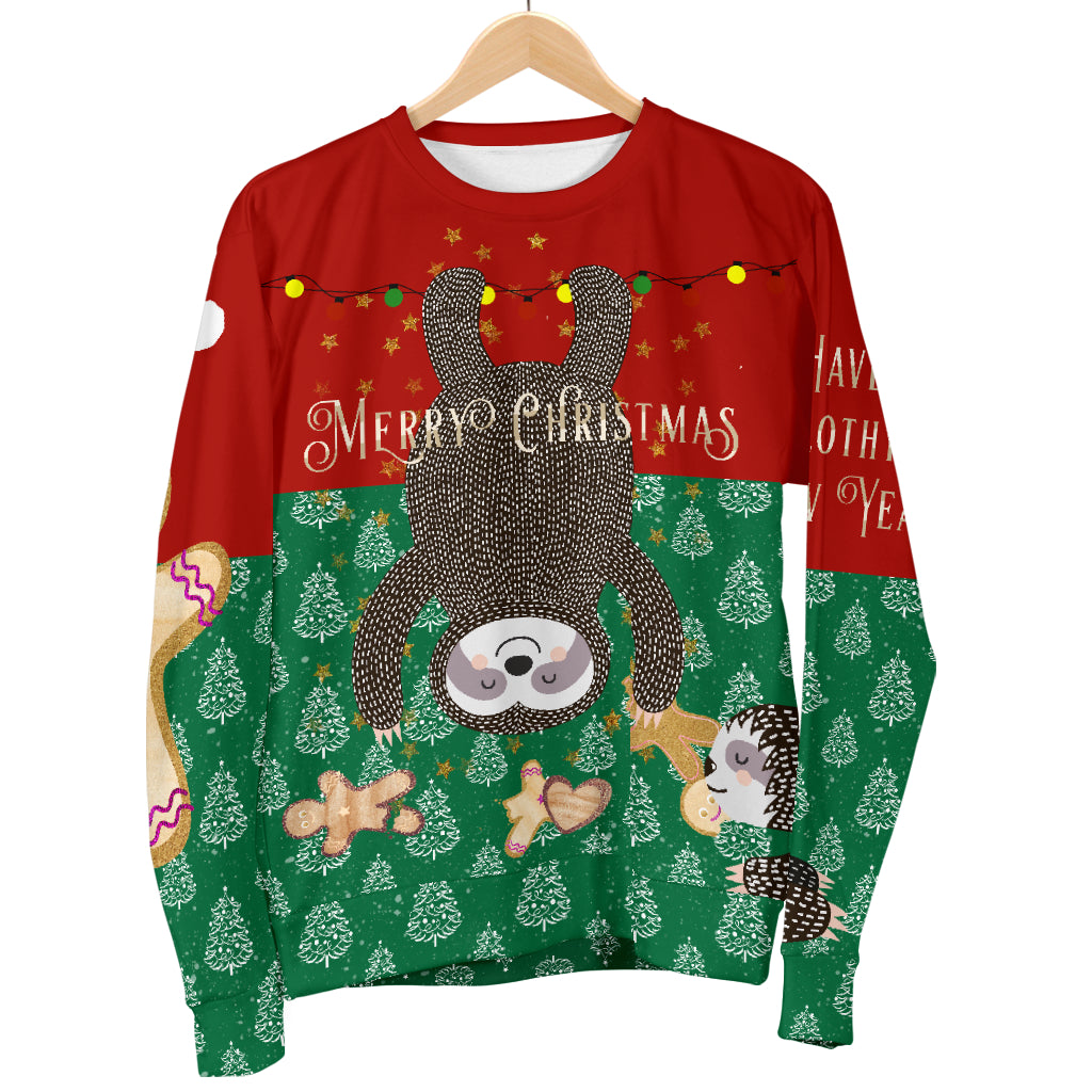 Sloth Ugly Christmas Sweater.Christmas Sweater For Sloth Addicts Chat Noir Petit Boutique