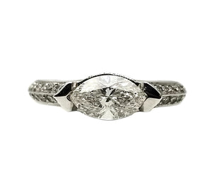 18k .48ctw Mounting, .83 Center Stone Diamond Ring