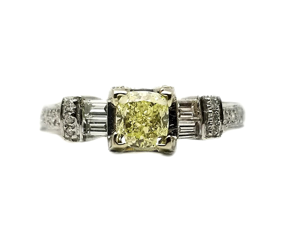 18k .84 Center Stone, .64ctw Mounting Diamond Ring
