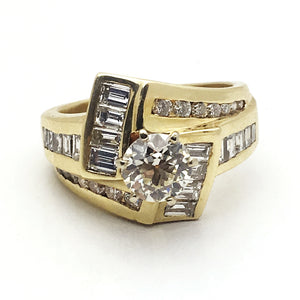 14k .95 Center Stone Diamond Ring