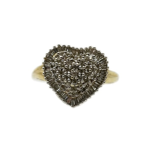 10k  .92ctw Diamond Heart Fashion Ring