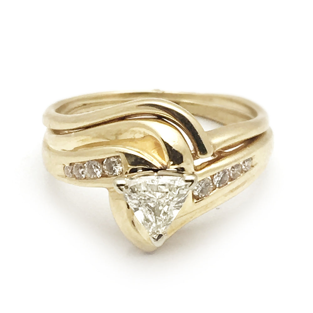 14k .50 trillion, .14 Mounting Diamond Engagement Set