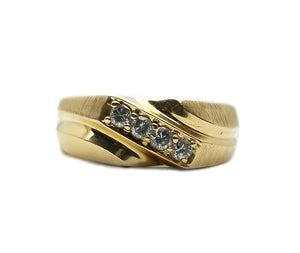 14k .24ctw Diamond Band