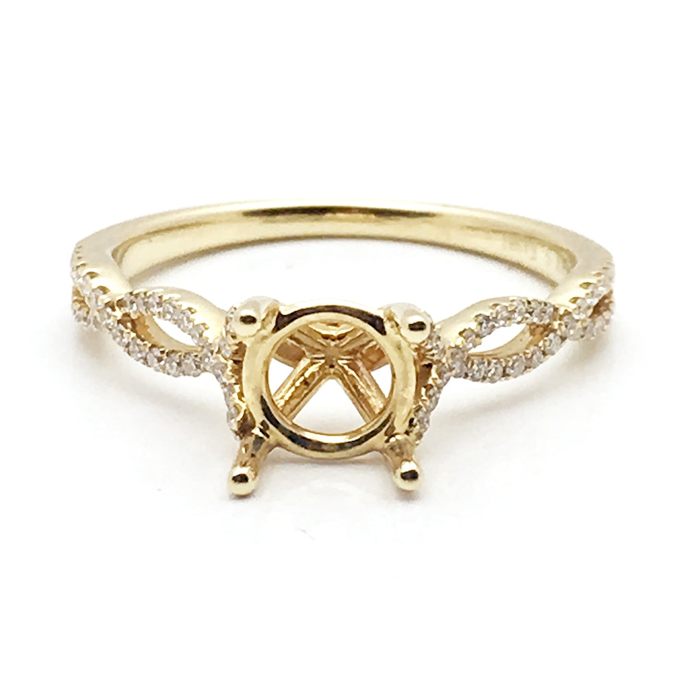 14k .20ctw Mounting, Diamond Ring