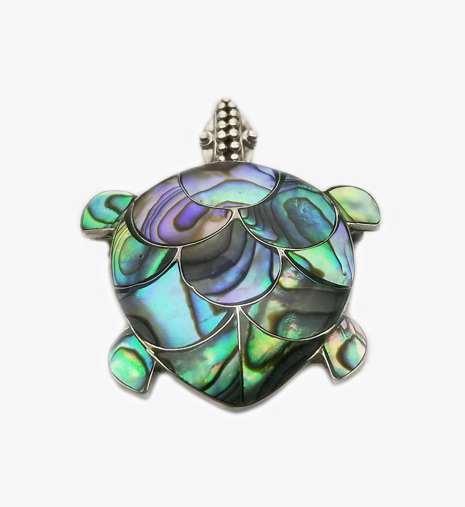 Mother Of Pearl Turtle Pendant