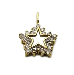 10k .60ctw Diamond Star Pendant