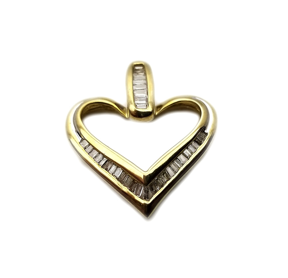 10k .50ctw  Diamond Heart Pendant