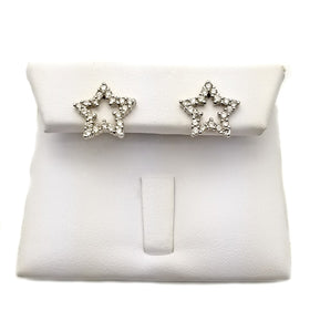 14k: .60ct Diamond Star Earrings