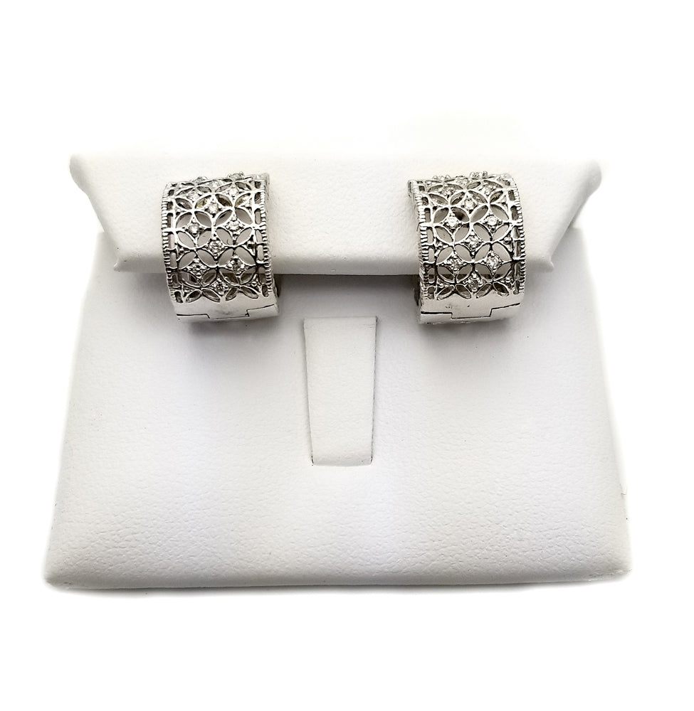14K Fancy Diamond Earrings