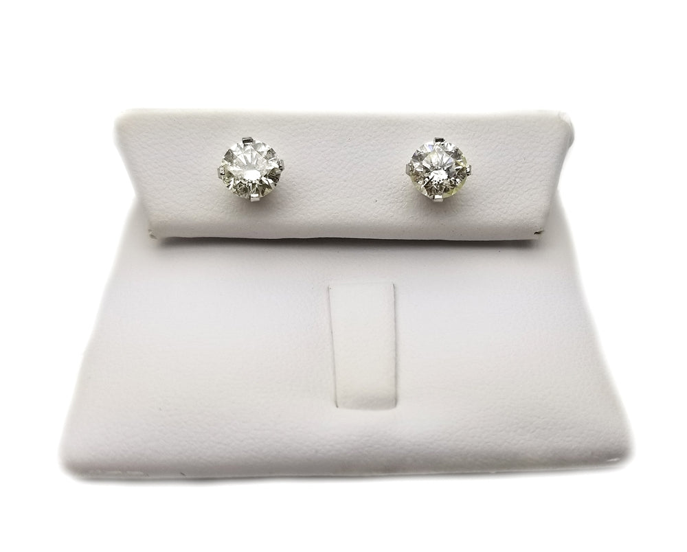 14k: 2.01ct  Diamond Stud Earrings