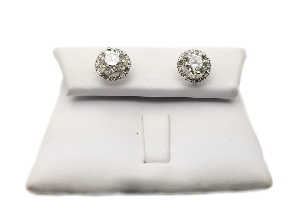 14k .20 Mounting 2.03ct Diamond Stud Earrings