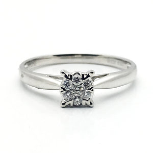 18K 0.120ctw Diamond Ring