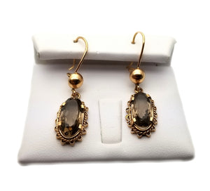 14k Smoky Quartz Earrings