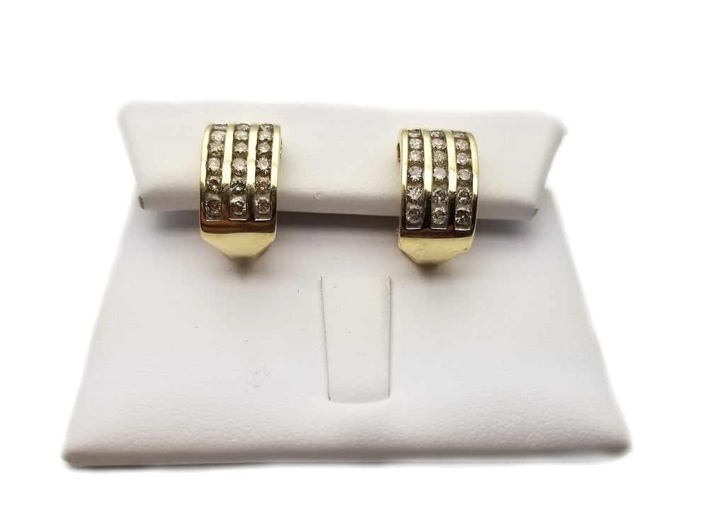 10k .72ctw Diamond Earrings