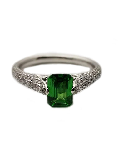 14k .99 Tsavorite, .39 Diamond, Fashion Ring